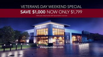 Sleep Number Veterans Day Sale TV Spot, 'Automatically Adjusts: Save $1000 + No Interest' - Thumbnail 9