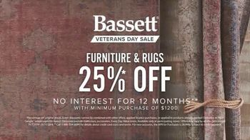 Bassett Veterans Day Sale TV Spot, 'Customizable' - Thumbnail 10