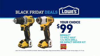 Lowe's Black Friday Deals TV Spot, 'Every Pro Deserves a Holiday Upgrade: Dewalt Drill or Kit' - Thumbnail 10