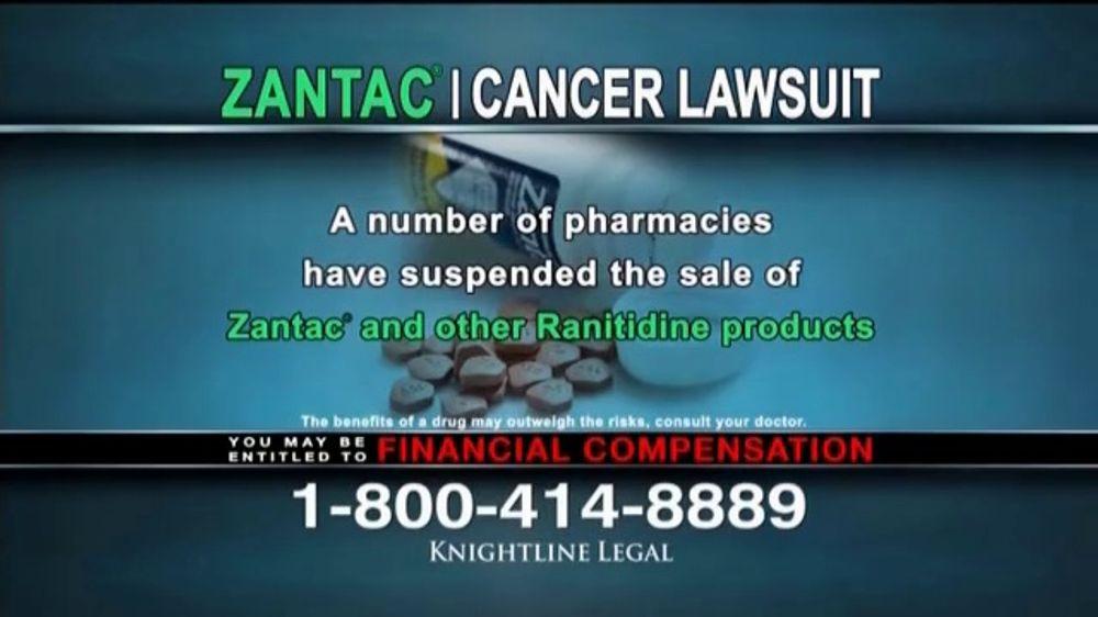 Knightline Legal TV Commercial, 'Zantac: Cancer Lawsuit' - iSpot.tv