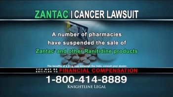 Knightline Legal TV Spot, 'Zantac: Cancer Lawsuit' - Thumbnail 3