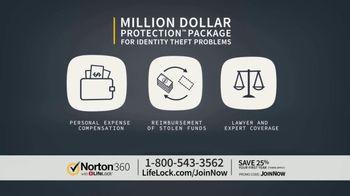 LifeLock TV Spot, 'CSP360 V1C Celeb120 25 Only' - 42 commercial airings