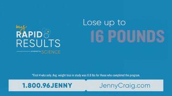 Jenny Craig My Rapid Results TV Spot, 'Custom Fit: $100 and DNA Kit' - Thumbnail 4