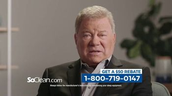 SoClean TV Spot, 'Sleep Disorder: $50 Rebate' Featuring William Shatner - Thumbnail 5