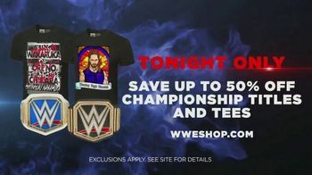 WWE Shop TV Spot, 'Join the Universe: 50 Percent Off Championship Titles & Tees' Song by Krissie Karlsson - Thumbnail 8