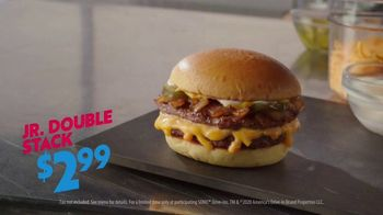 Sonic Drive-In Jr. Double Stack Cheeseburger TV Spot, 'Cheesy' - Thumbnail 9
