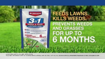 BioAdvanced 3-in-1 Weed & Feed TV Spot, 'Southern Lawns' - Thumbnail 7