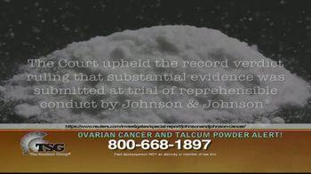 The Sentinel Group TV Spot, 'Ovarian Cancer and Talcum Powder Alert' - Thumbnail 4