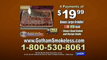 Gotham Smokeless Grill TV Spot, 'Barbecue Inside: Free Griddle' - Thumbnail 8