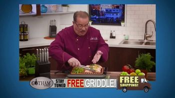 Gotham Smokeless Grill TV Spot, 'Barbecue Inside: Free Griddle'