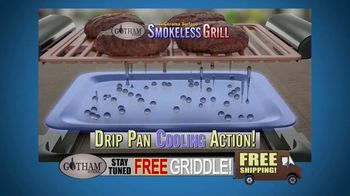 Gotham Smokeless Grill TV Spot, 'Barbecue Inside: Free Griddle' - Thumbnail 3