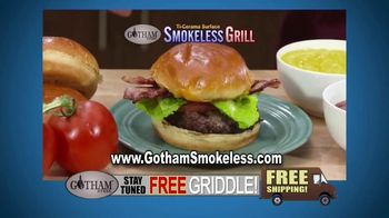 Gotham Smokeless Grill TV Spot, 'Barbecue Inside: Free Griddle' - Thumbnail 4