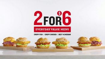 Arby's 2 for $6 Everyday Value Menu TV Spot, 'Happy' - 81 commercial airings