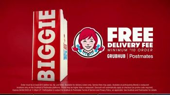 Wendy's Biggie Bag TV Spot, 'Drive-Thru and Delivery' - 1355 commercial airings