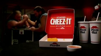 Pizza Hut Stuffed Cheez-It Pizza TV Spot, 'Snackdown SmackDown' Feat. Tucker Knight, Otis Dozovic, Carmella