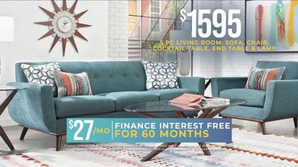 Rooms to Go Holiday Sale TV Commercial, \'5-Piece Living Room Set: $27 a  Month\' - Video