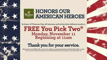 Panera Bread TV Spot, 'Honor Our American Heroes'