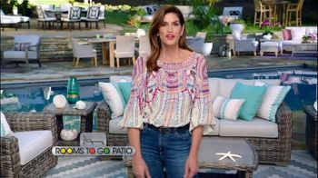 Rooms to Go Patio TV Spot, 'Selection and Style You Want' Featuring Cindy Crawford - Thumbnail 1