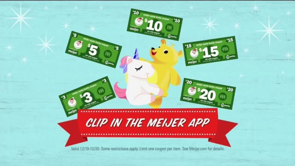 Meijer TV Commercial, 'Santa Bucks Are Back: Last Chance'