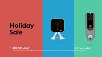 ADT Holiday Sale TV Spot, 'Limited Time Offer: Outdoor Camera & Video Doorbell' - 181 commercial airings