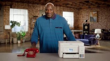 Epson EcoTank TV Spot, \'Why Are You Still Using a Laser Printer?\' Featuring Shaquille O\'Neal
