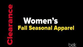 Belk Clearance Sale TV Spot, 'Fall Seasonal Apparel and Sheet Sets' - Thumbnail 5