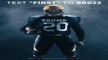 Donald J. Trump for President Super Bowl 2020 Teaser, 'Text First' - Thumbnail 2