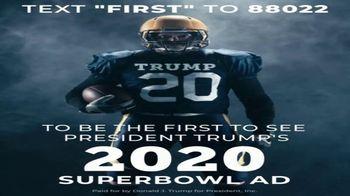 Donald J. Trump for President Super Bowl 2020 Teaser, 'Text First' - Thumbnail 4