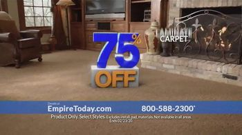 Empire Today 75 Percent Off Sale TV Spot, 'Beautiful New Floors: February'