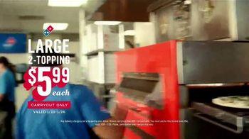 Domino's $5.99 Large 2-Topping TV Spot, 'The Big Guns: Pepperoni Guy' - Thumbnail 9