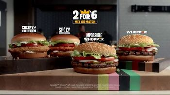 Burger King 2 for $6 Mix or Match TV Spot, 'Now With the Impossible Whopper' - Thumbnail 10