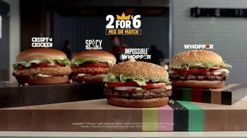 Burger King 2 for $6 Mix or Match TV Spot, 'Now With the Impossible Whopper' - Thumbnail 9