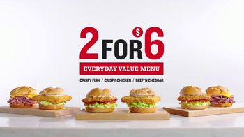 Arby's TV 2 for $6 Everyday Value Menu TV Spot, 'The Catch' Song by YOGI
