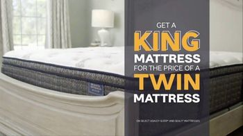 Ashley HomeStore Big Sleep Sale TV Spot, 'King for the Price of a Twin' Song by Midnight Riot - Thumbnail 4