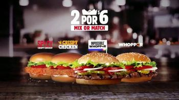 Burger King 2 for $6 Mix or Match TV Spot, 'Ahora con el Impossible Whopper' [Spanish] - Thumbnail 6