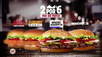 Burger King 2 for $6 Mix or Match TV Spot, 'Ahora con el Impossible Whopper' [Spanish] - Thumbnail 2