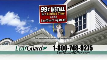LeafGuard 99 Cent Install Sale TV Spot, 'Million Satisfied Customers' - Thumbnail 4