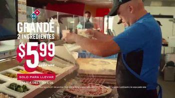Domino's $5.99 Large 2-Topping TV Spot, 'Pepperoni Guy' [Spanish] - Thumbnail 7
