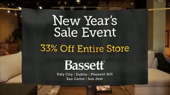 Bassett New Year's Sales Event TV Spot, '33% Off Entire Store' - Thumbnail 2