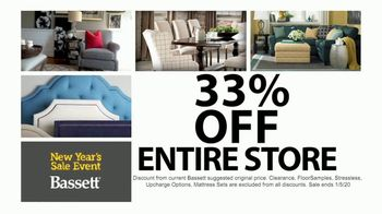 Bassett New Year's Sales Event TV Spot, '33% Off Entire Store' - Thumbnail 4