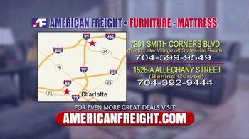American Freight Warehouse Liquidation TV Spot, 'Bedroom Sets, Mattress Sets and Sofas' - Thumbnail 9