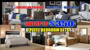 American Freight Warehouse Liquidation TV Spot, 'Bedroom Sets, Mattress Sets and Sofas'