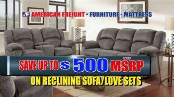 American Freight Warehouse Liquidation TV Spot, 'Bedroom Sets, Mattress Sets and Sofas' - Thumbnail 3