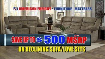 American Freight Warehouse Liquidation TV Spot, 'Bedroom Sets, Mattress Sets and Sofas' - Thumbnail 4