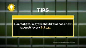 Tennis Industry Association TV Spot, 'Tips: New Racquets' Feat. Serena Williams, Roger Federer - Thumbnail 9