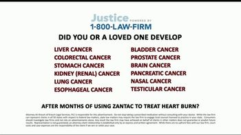 1-800-LAW-FIRM TV Spot, 'Cancer From Zantac'