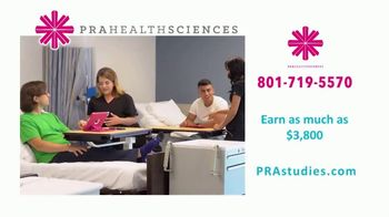 PRA Health Sciences TV Spot, 'Free Time: Up to $3,800'