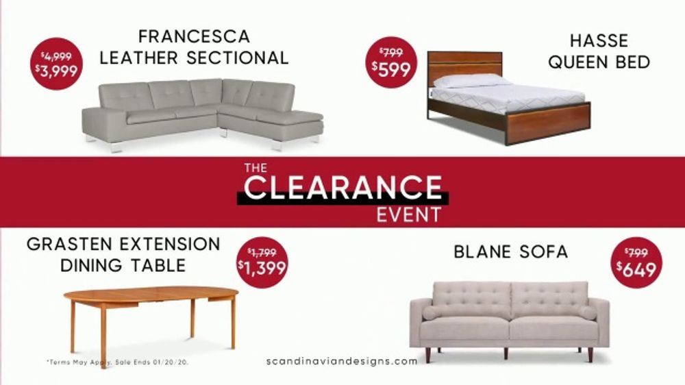 Scandinavian Designs Clearance Event TV Commercial, 'New Year: Save 60 Percent'