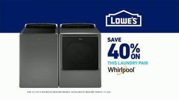 Lowe's TV Spot, 'Laundry Right: Whirlpool Pair' - Thumbnail 7