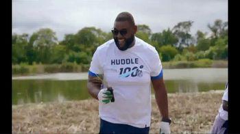 NFL TV Spot, 'Huddle for 100: End of Season' Feat. Josh Jacobs, Patrick Mahomes, Charles Tillman - Thumbnail 3